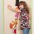 девушки · платье · глядя · зеркало · счастливым · cute - Сток-фото © goce