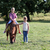 boy and little girl with pony horse pet stock photo © goce