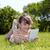 笑みを浮かべて · 若い女の子 · 草 · ライフスタイル · 夏休み - ストックフォト © goce
