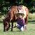 dziecko · mały · cowboy · kucyk · konia · dziewczyna - zdjęcia stock © goce