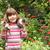 petite · fille · fleur · blanche · visage · mère - photo stock © goce