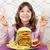 büyük · Burger · ev · yapımı · beyaz · soğan · domates - stok fotoğraf © goce