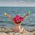 dziewczyna · łopata · ogród · szczęścia · stałego · fotografii - zdjęcia stock © goce