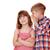 boy whispering a secret little girl on white stock photo © goce