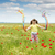 happy child on spring meadow stock photo © goce