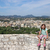 happy little girl on vacation in corfu town greece stock photo © goce