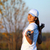 menina · jogador · de · golfe · sorrir · golfe · beleza · campo - foto stock © goce