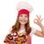 kok · desserts · chef · eigengemaakt · vruchten · chocolade - stockfoto © goce