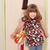 menina · vestido · quem · espelho · feliz · bonito - foto stock © goce