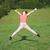 jong · meisje · springen · weide · jonge · tienermeisje · zomer - stockfoto © goce