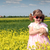 little girl with dwarf white bunny spring scene stock photo © goce