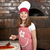 happy little girl cook real pizza stock photo © goce