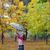happy little girl in autmn park stock photo © goce