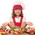 feliz · nina · cocinar · preparado · salmón · nina - foto stock © goce