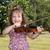 belo · little · girl · jogar · violino · criança · beleza - foto stock © goce