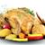 クローズアップ · ローストチキン · 新鮮な野菜 · 木材 · 鳥 - ストックフォト © goce
