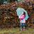 little girl in park autumn season stock photo © goce