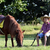 boy with cowboy hat and pony horse on farm stock photo © goce