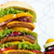 big hamburger closeup food background stock photo © goce