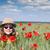 幸せ · 女の子 · 草原 · 春 · シーズン - ストックフォト © goce