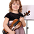 happy little girl with violin stock photo © goce