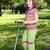 かわいい · 女の子 · スクーター · 公園 · 美しい - ストックフォト © goce