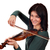 beautiful girl play violin portrait on white stock photo © goce