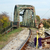 meisje · vergadering · koffer · wachten · trein · natuur - stockfoto © goce