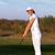 девушки · выстрел · женщину · гольф · области - Сток-фото © goce