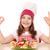 boldog · kislány · szakács · pisztráng · hal · ok - stock fotó © goce