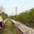lopen · meisje · spoorweg · blauwe · hemel · 3d · render · illustratie - stockfoto © goce