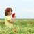 красивой · ребенка · цветы · весны · зеленый · луговой - Сток-фото © goce