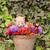fehér · kiscica · virágok · aranyos · macska · kert - stock fotó © goce