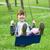 güzel · küçük · kız · oynama · salıncak · küçük · sarışın - stok fotoğraf © goce