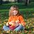 kind · mand · appels · gelukkig · Rood · geïsoleerd - stockfoto © goce