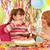 moeder · dochter · verjaardagstaart · glimlachend · voedsel · kinderen - stockfoto © goce