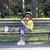 mp3 · patinador · menina · escuta · telefone · móvel - foto stock © goce