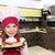 nina · cocinar · espaguetis · jóvenes · nina · mano - foto stock © goce