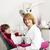 little girl and female dentist in dental practice stock photo © goce
