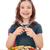 boldog · kislány · pisztráng · hal · gyermek · jókedv - stock fotó © goce