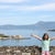 happy little girl with thumbs up corfu town greece stock photo © goce