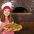 mutlu · küçük · kız · pişirmek · pizzacı · kız · gıda - stok fotoğraf © goce