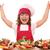 boldog · kislány · szakács · szendvicsek · hüvelykujj · felfelé - stock fotó © goce