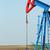 two oil pump jack on field stock photo © goce