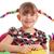 kislány · ceruzák · mosolyog · boldogan · lány · mosoly - stock fotó © goce