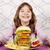 голодный · девочку · есть · большой · сэндвич · продовольствие - Сток-фото © goce