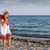 tengerpart · dallam · gyönyörű · lány · bikini · napszemüveg · tart - stock fotó © goce
