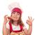 szczęśliwy · dziewczynka · gotować · domowej · roboty · ciasto · dziewczyna - zdjęcia stock © goce