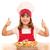 feliz · nina · cocinar · salmón · peces · porción - foto stock © goce