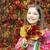 güzel · küçük · kız · renkli · sonbahar · yaprakları · çocuk - stok fotoğraf © goce